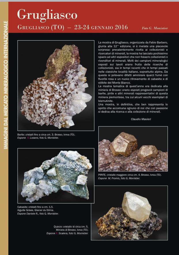 Immagini dal mercato mineralogico internazionale